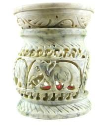 Buy  Handcarved stone oil burner diffuser candle candle online