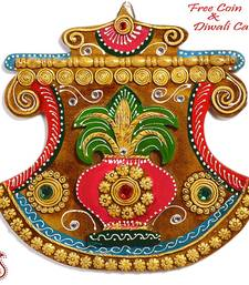 Buy Phank Design Wall Art with clay and wood craft diwali-decoration online