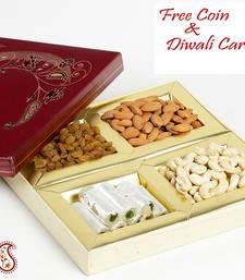 Decorated Dry fruit Box with Kaju Rolls shop online