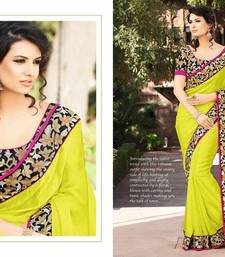 Styloce Yellow Georgette Embroidery Saree-STY-2111 shop online