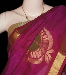Buy Magenta Paisley Saree with blouse traditional-saree online