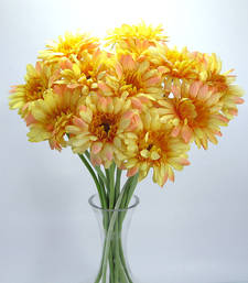 Buy Artificial Gerbera - 12 stems - Yellow artificial-flower online
