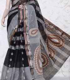 Buy Bengal Handloom Tant Cotton Saree (Without Blouse) cotton-saree online