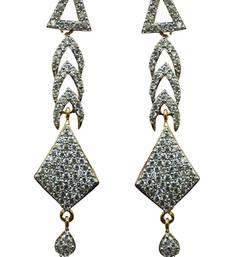Buy Vatika traditional american diamond earring danglers-drop online