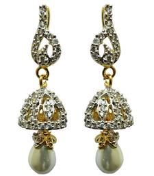 Buy vatika beautiful jhumki styleamerican diamond earring jhumka online