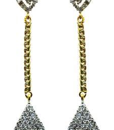 Buy Vatika american diamond long earring danglers-drop online