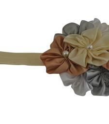 Buy Cream and brown boquet baby hairband ( cream elastic) hair-accessory online
