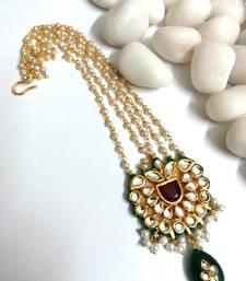 Buy kundan maang tikka with pearl maang-tikka online