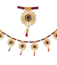 Buy Torans / Door Hanging/ Bandhanwar in Pearls and Red brooch wall-art online
