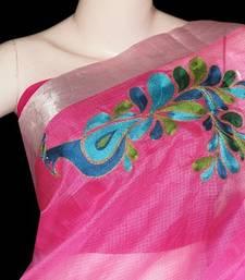 Buy Pink Peacock saree with blouse kota-silk-saree online
