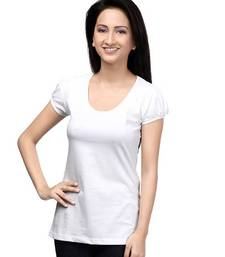 Buy Casual round neck : White top online