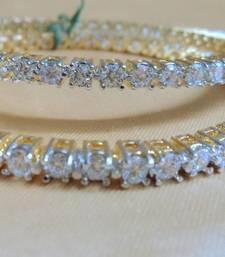 Buy forever cz bangles pair bangles-and-bracelet online