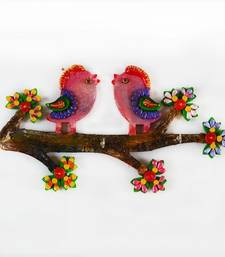 Buy Colorful Love Birds Key Holder wall-art online