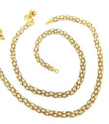 Buy antique gold plated CZ rope anklet p5 anklet online
