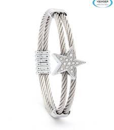 Buy Vendee-Silver Fashion Jewelry Bracelets (5723) bangles-and-bracelet online