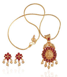 Buy Gold plated temple necklace set necklace-set online
