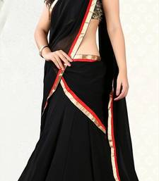Buy DESIGNER 3 PEACE  BLACK LAHENGA  bollywood-lehenga online