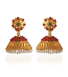 Buy Gold plated kemps jhumka jhumka online