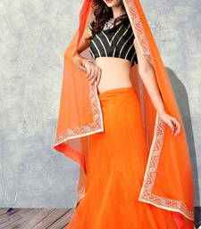 Buy DESIGNER ORANGE LAHENGA CHOLI bollywood-lehenga online