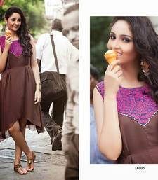 Buy Trendy Brown Georgette Kurti kurtas-and-kurti online
