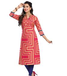 Buy Multicolor printed cotton kurtas-and-kurtis punjabi-kurtis online