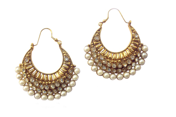 Ethnic Pearl Polki Earring by Adiva ansatocoo46 tds1