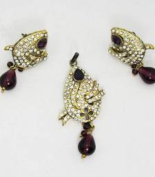 Buy Victorian Pendant Set Dark Violet Necklace online