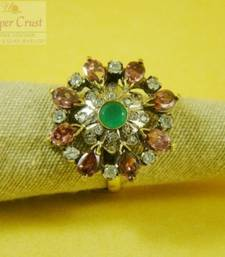 Buy American Diamond Victorian Antique Style Adjustable Cocktail Ring Ring online