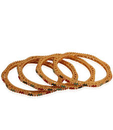 Buy Classy Gold plated  antique bangle bangles-and-bracelet online