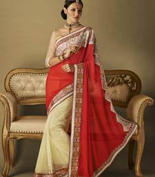 Buy Indian women fancy designer embrodiried saree wedding-saree online