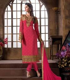 Buy Fancy designer semistich embrodiried partywear salwar suit party-wear-salwar-kameez online