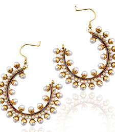 Traditional White Pearl hoops earrings ab151w shop online