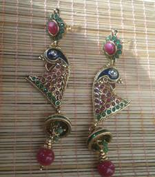 Buy Long Peacock Earrings-05080 danglers-drop online