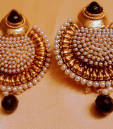 Buy royaltouch polki danglers red Earring online