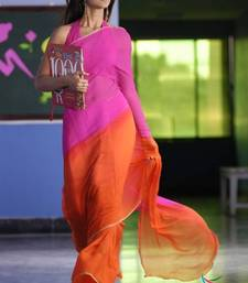 Pink and Orane Saree shop online