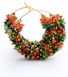 Buy Foppish Mart Vibrant Classy Multi-Shaded Chidd Hoops For Women hoop online