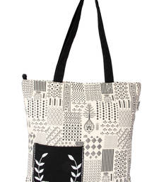 Buy Black Canvas Tote Bag with embroidery on Pocket tote-bag online