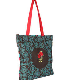 Buy Brown & Royal Blue Canvas Tote Bag tote-bag online