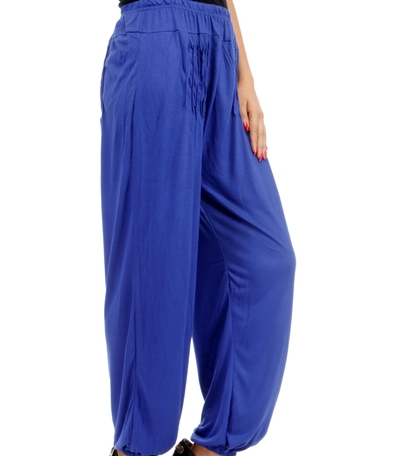 Buy Royal_Blue Viscose Harem Pants Online