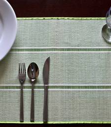 Buy Premium Talipot  Table mats - Green - set of six table-mats-and-runner online