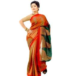 Buy Multicolor hand-woven silk saree silk-saree online