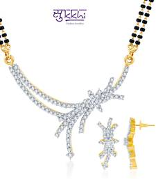 Buy Sukkhi Classy Gold and Rhodium plated CZ mangalsutra online