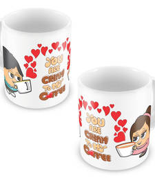 Buy Cute Hearts Print Boy Girl Design Coffee Mugs Pair other-home-accessory online