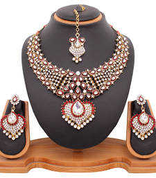 Buy Bridal Maroon Necklace Set necklace-set online