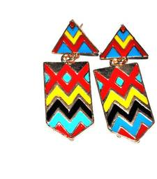Buy Colourful chevron stripes earrings congratulation-gift online