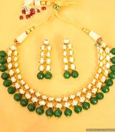 Buy Royal look kundan double line necklace set necklace-set online