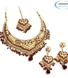 Buy Vendee Fashion Beautiful Bridal Necklace necklace-set online