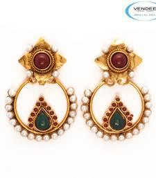 Buy Vendee Fashion Beautiful Copper Earrings danglers-drop online