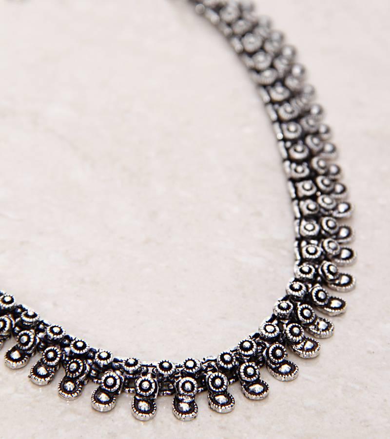 Buy German Silver Chotti Hasli Necklace Online