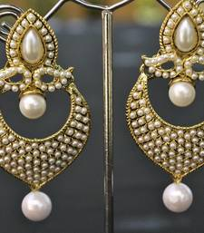 Designer Earrings studded with Pearls & droplets shop online